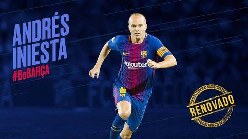 El Barcelona anuncia la renovación de Iniesta para toda la vida