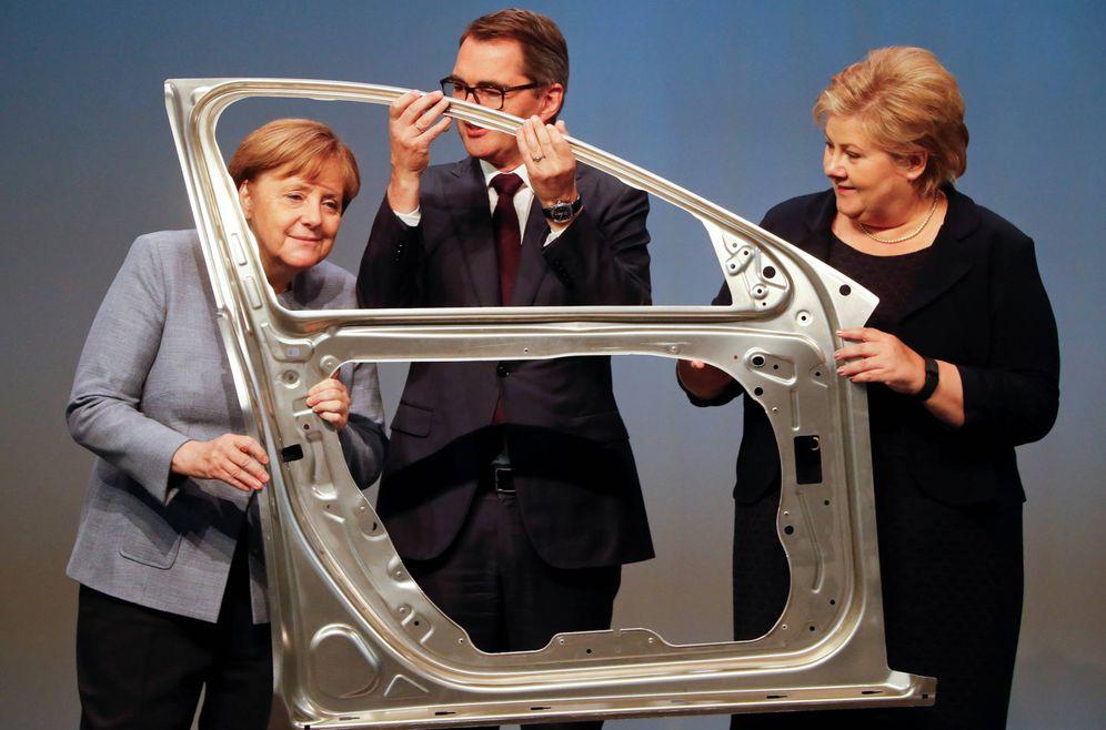 Foto: La canciller Angela Merkel, durante la apertura de una fábrica en Grevenbroich. (Reuters)