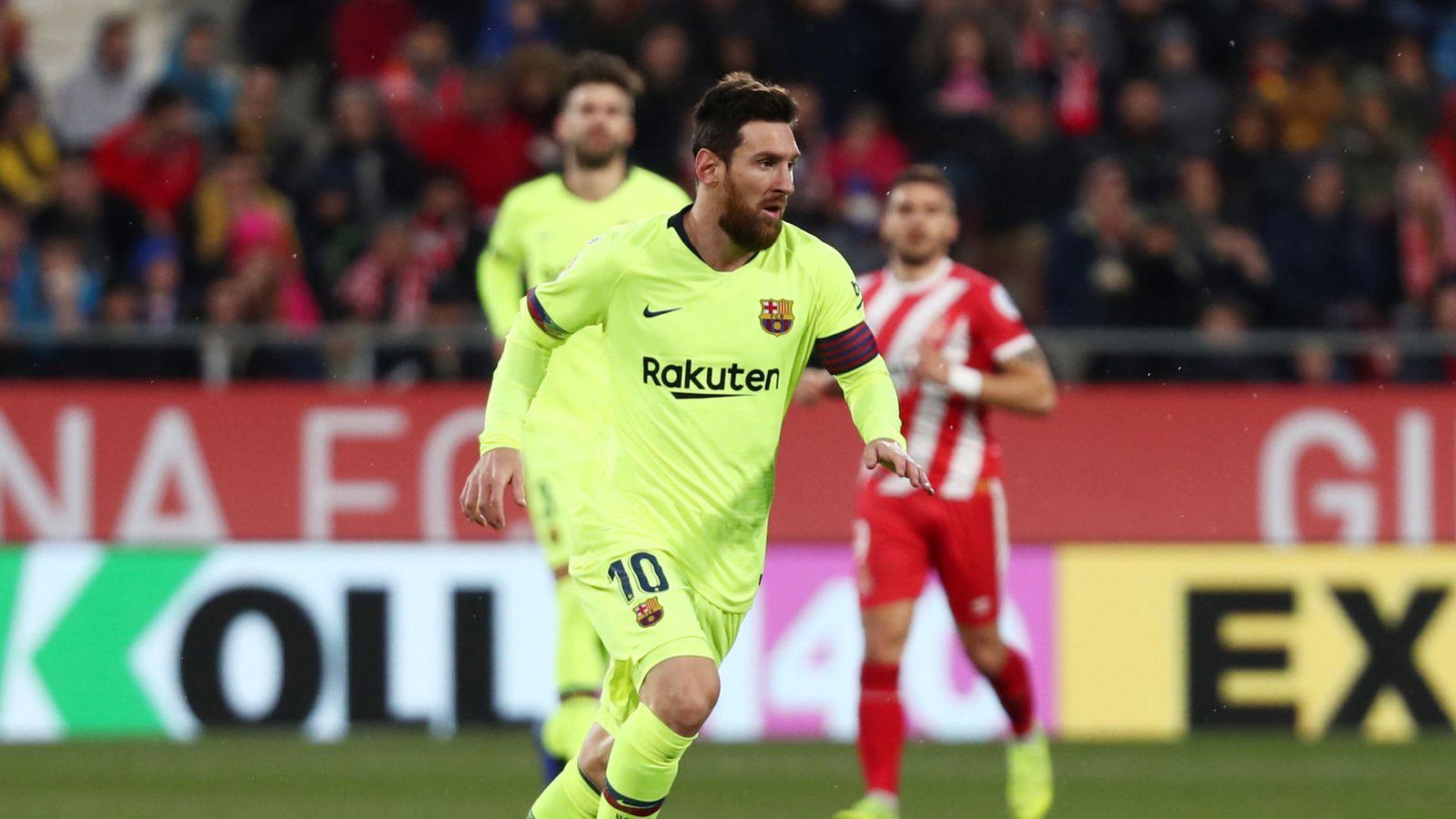 Foto: La liga santander - girona v fc barcelona