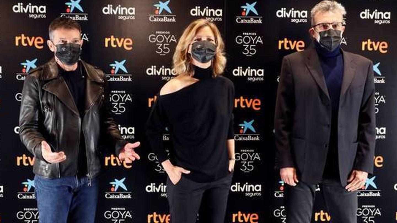 Antonio Banderas, María Casado y Mariano Barroso. (EFE)