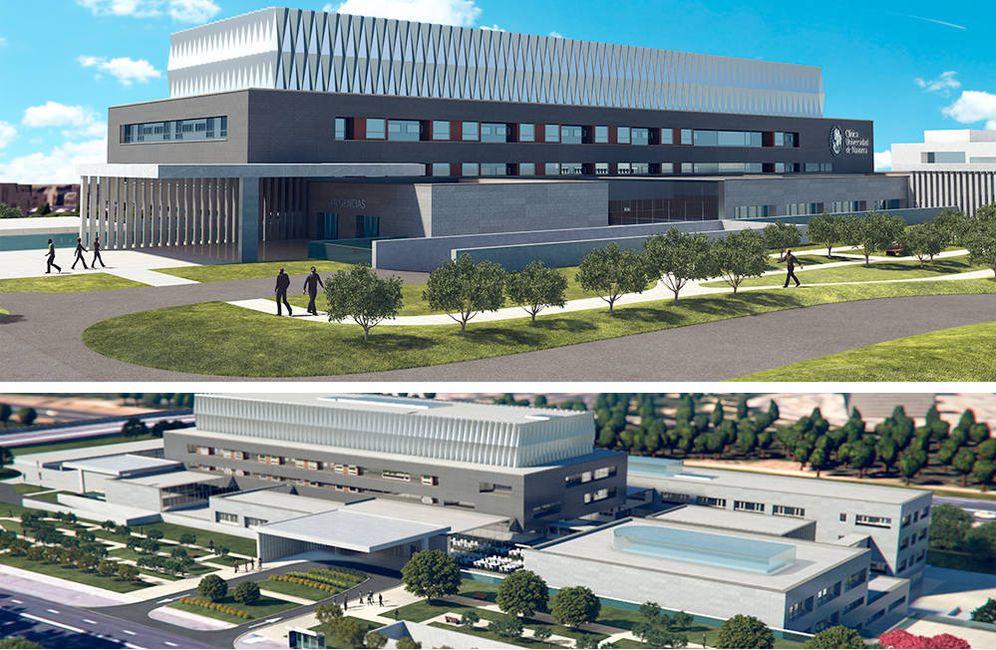 Foto: Imágenes del proyecto de la Clínica y el edificio de Posgrado de la Universidad de Navarra en Madrid. (UCN)