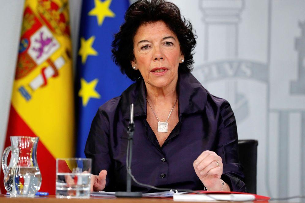 Foto: Isabel Celaá, portavoz del Gobierno, el pasado 8 de marzo en la Moncloa. (EFE)