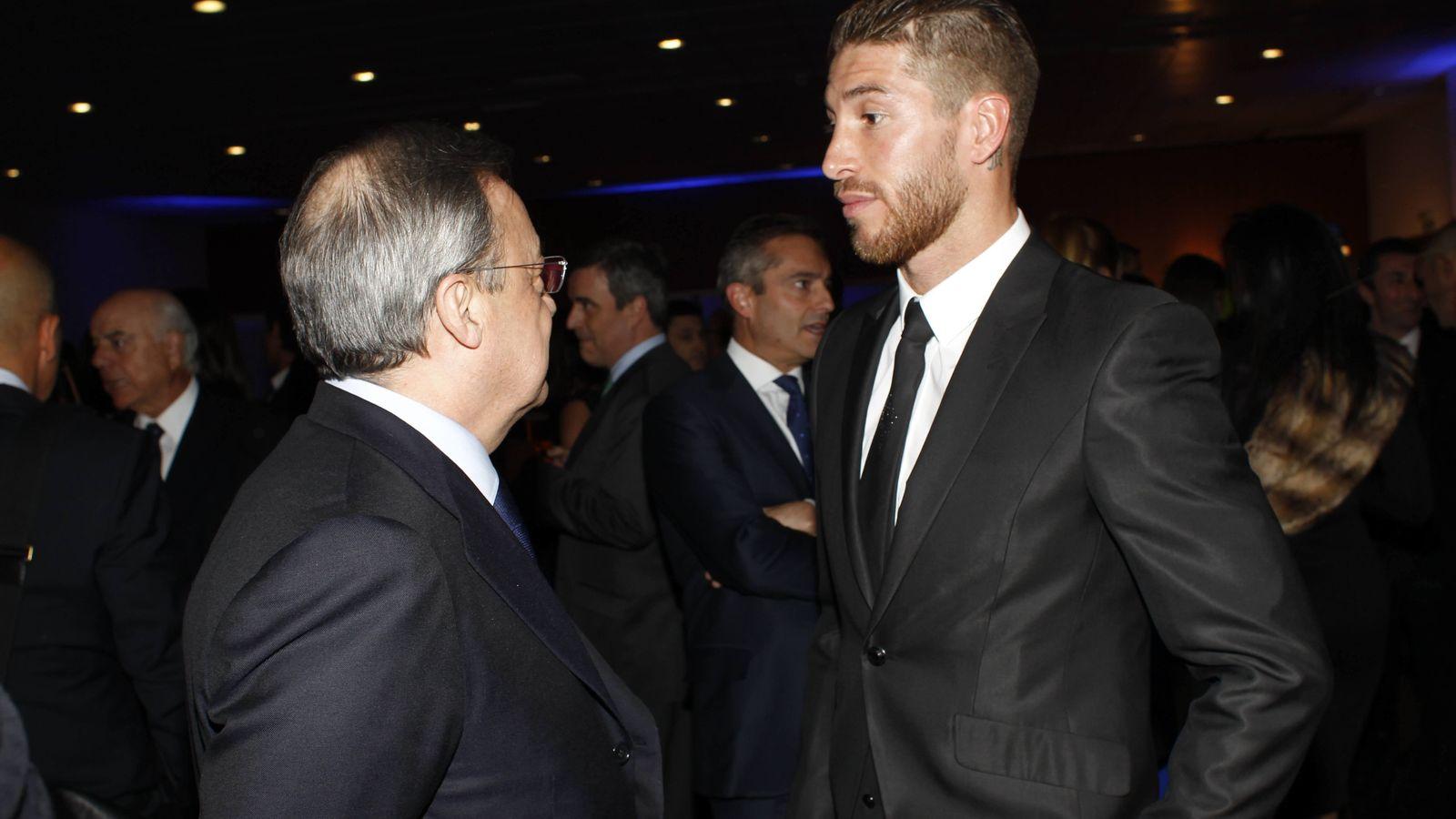 Foto: Florentino Pérez y Sergio Ramos en una imagen de archivo (EFE)