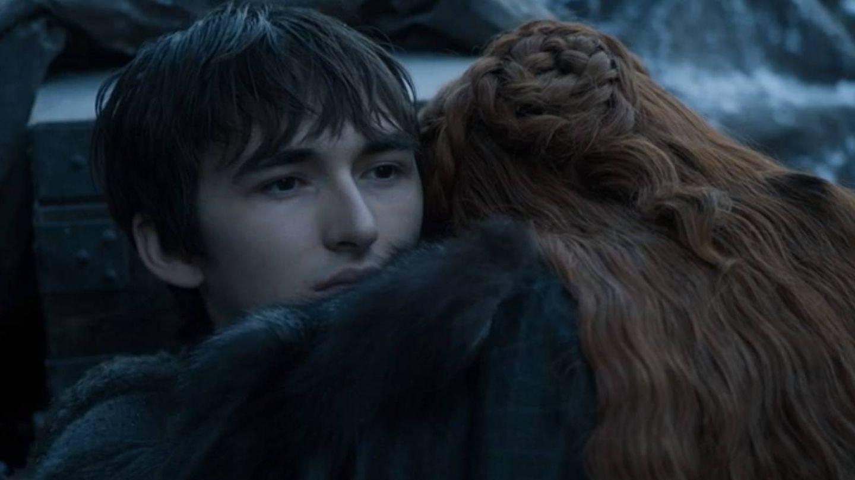 Imagen del tercer capítulo de la séptima temporada con Brann Stark llegando a Invernalia