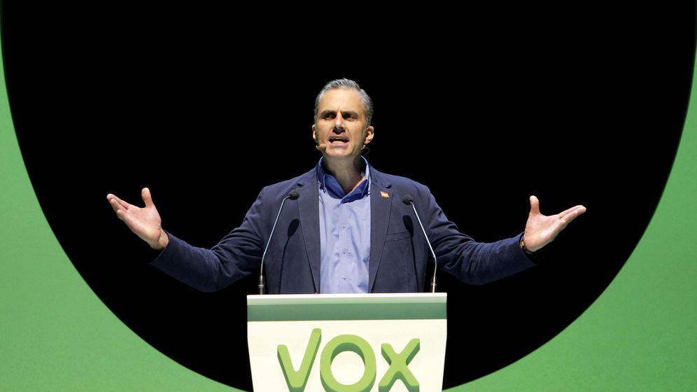 Foto: El secretario general de Vox, Javier Ortega Smith, en un acto de la formación en Madrid. (EFE)