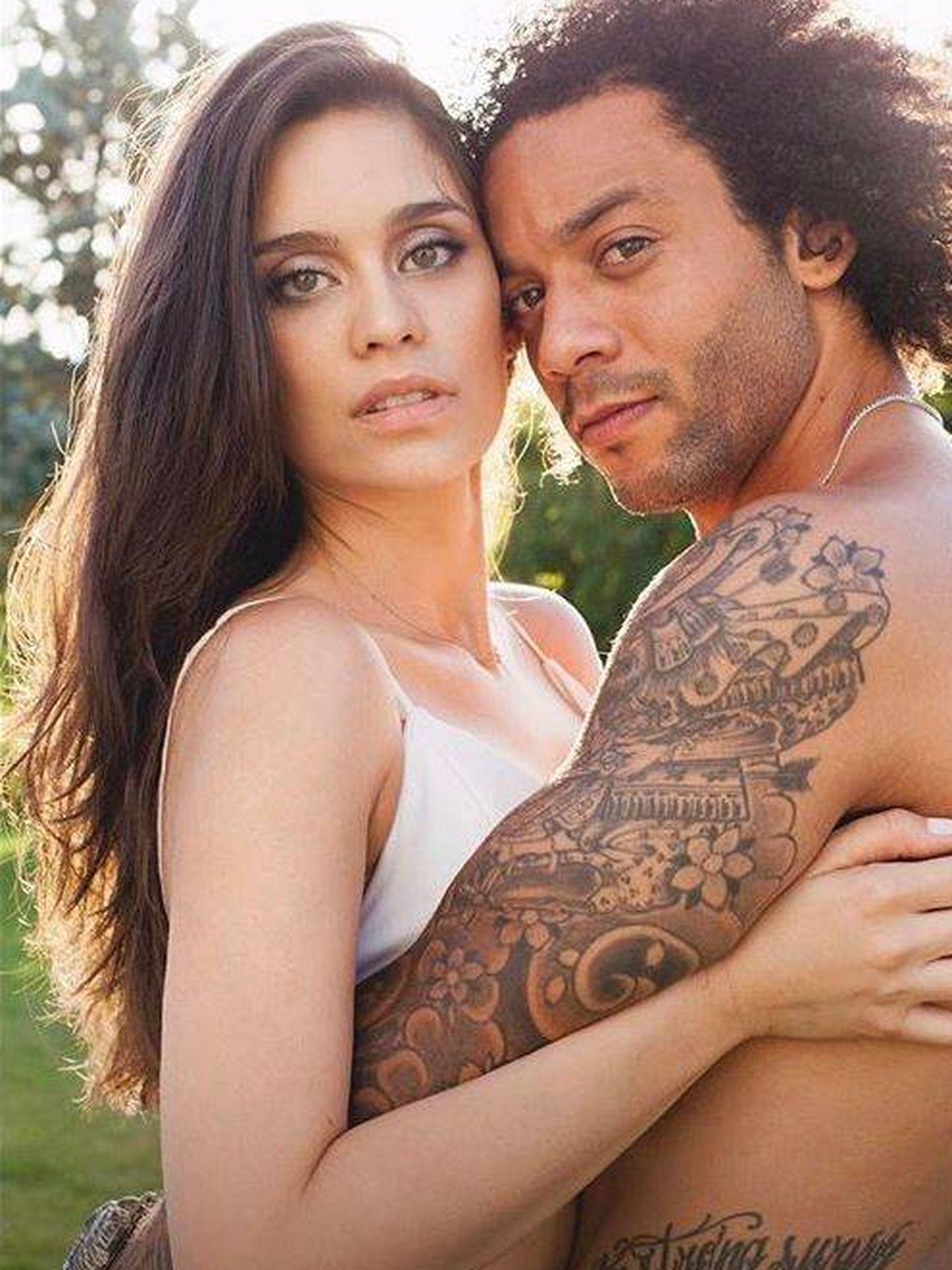 Clarice Alves y Marcelo. (Instagram)