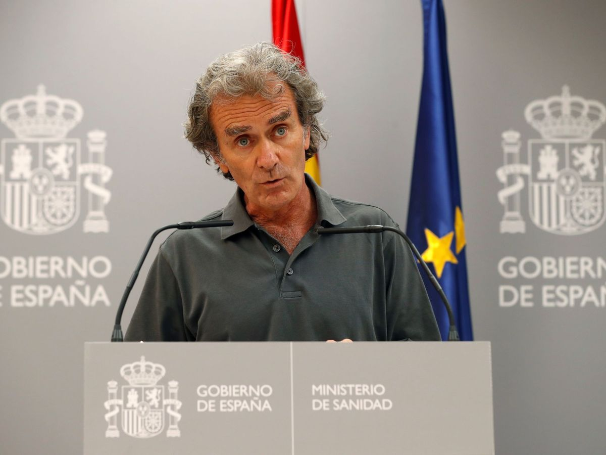 Foto: Fernando Simón, durante una rueda de prensa en el Ministerio de Sanidad. (EFE)
