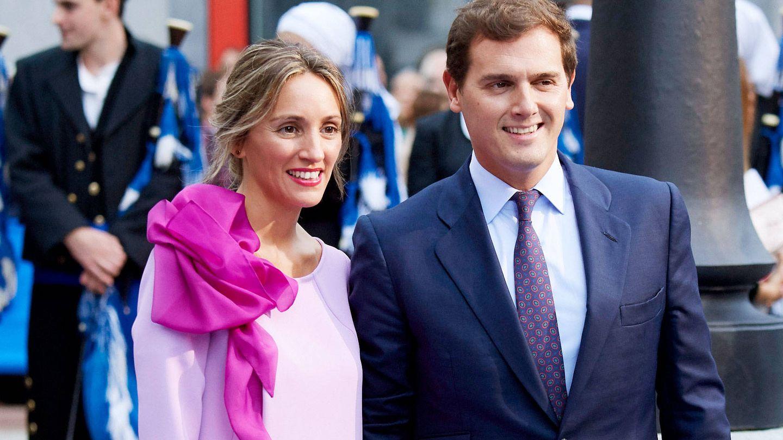 Beatriz Tajuelo y Albert Rivera en los premios Príncipe de Asturias. (Getty)