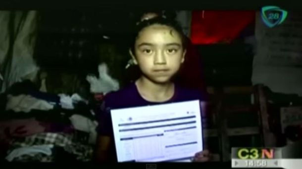 Foto: Pamela tiene 11 años y, además de estudiar, ayuda a su familia