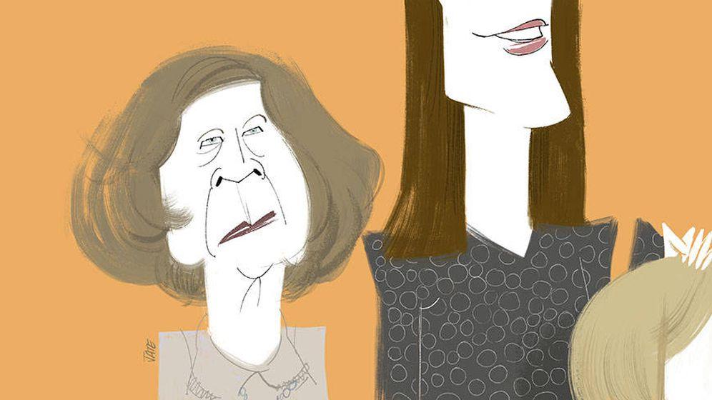 Foto: Letizia y Sofía en una ilustación de Jate para Vanitatis.