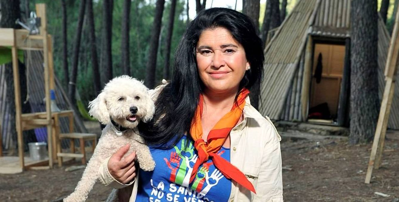 Foto: Lucía Etxebarría en 'Campamento de verano' (Telecinco)