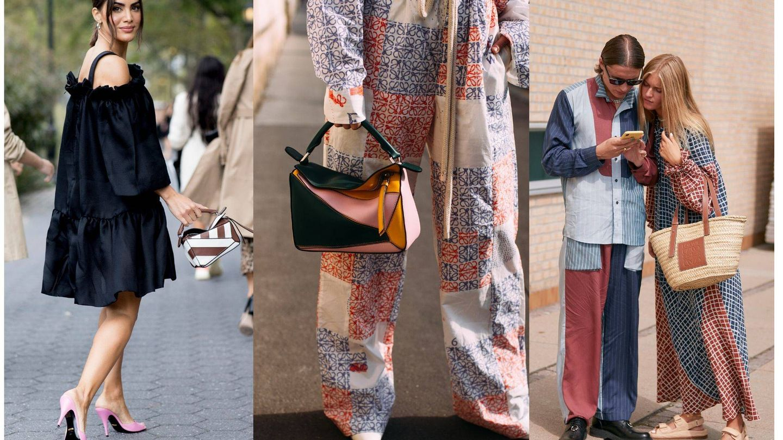 Los bolsos de Loewe inundan el street style. (Imaxtree)