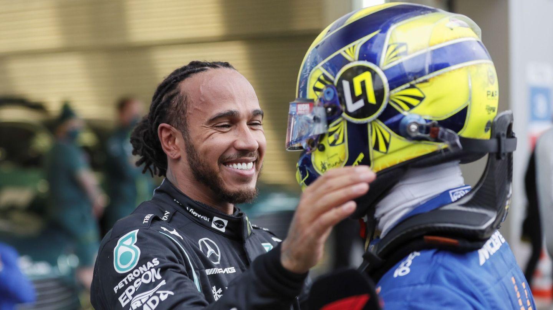 Norris felicitó a Hamilton por la victoria. (Efe)