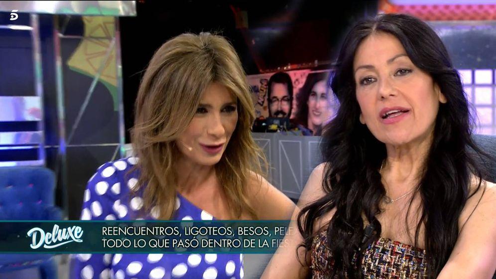 Foto: Gema López y Maite Galdeano, en 'Sábado Deluxe'. (Telecinco)