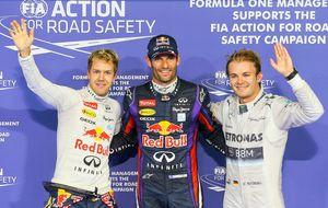 Webber arrebata la 'pole' a Vettel mientras Alonso naufraga