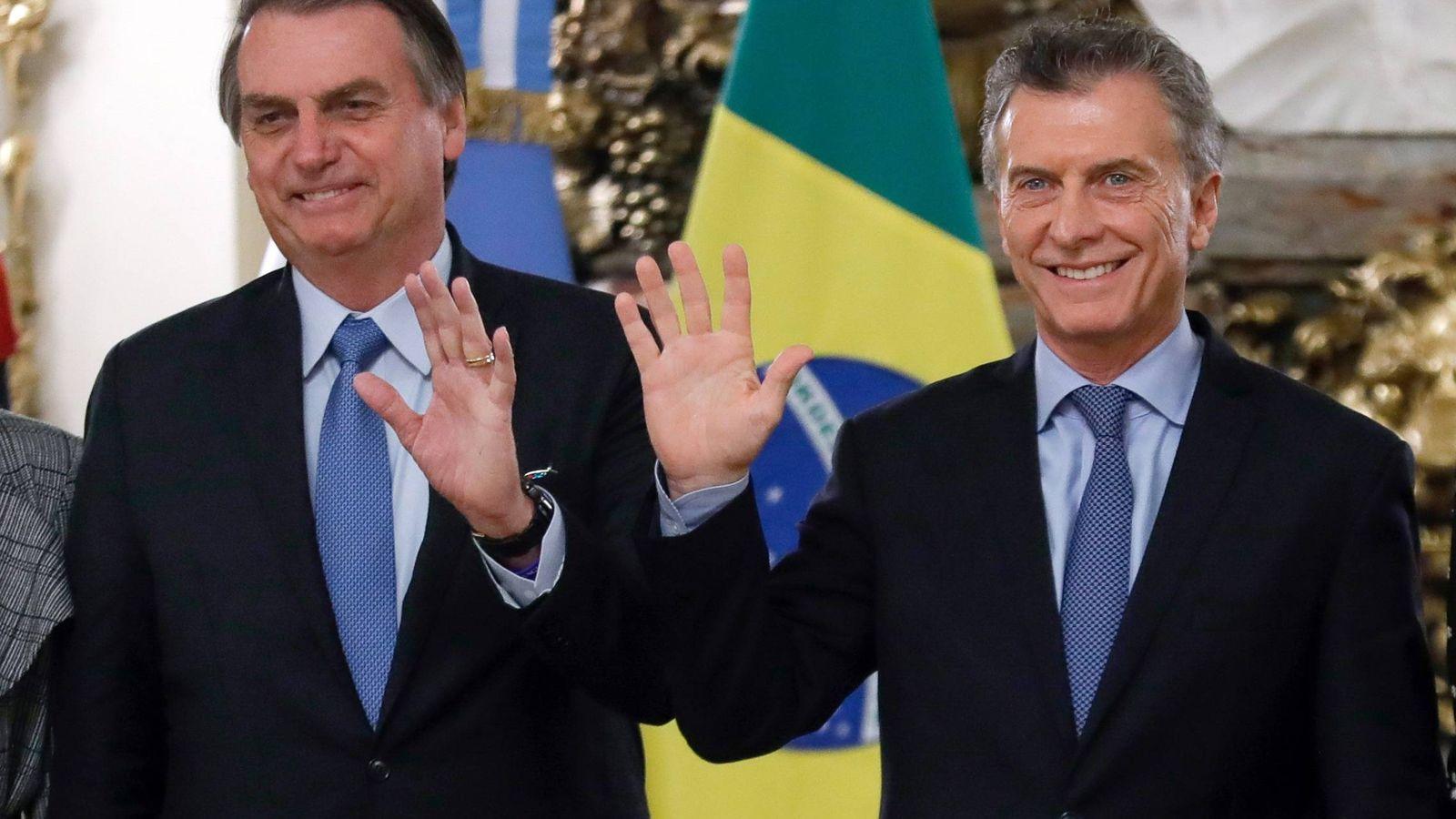 Foto: Los presidentes de Argentina, Mauricio Macri, y Brasil, Jair Bolsonaro. (EFE)