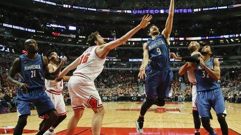 El partidazo de Gasol no basta a los Bulls para ganar a los Wolves de Ricky Rubio