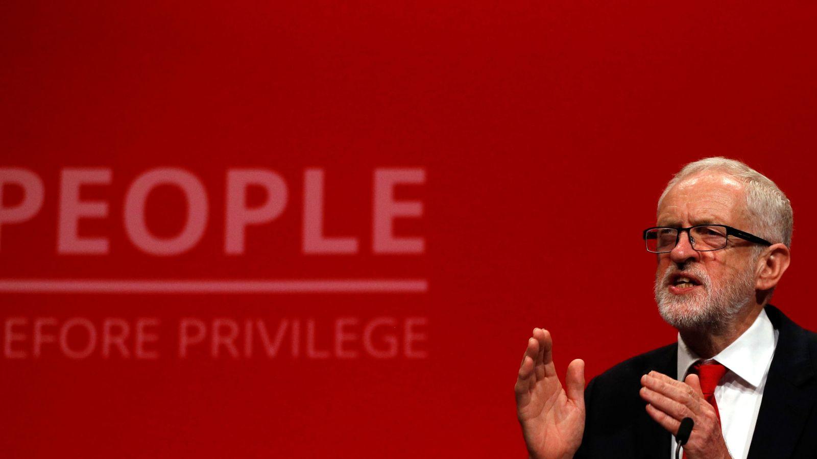 Foto: Jeremy Corbyn durante la conferencia anual del partido Laborista. (Reuters)