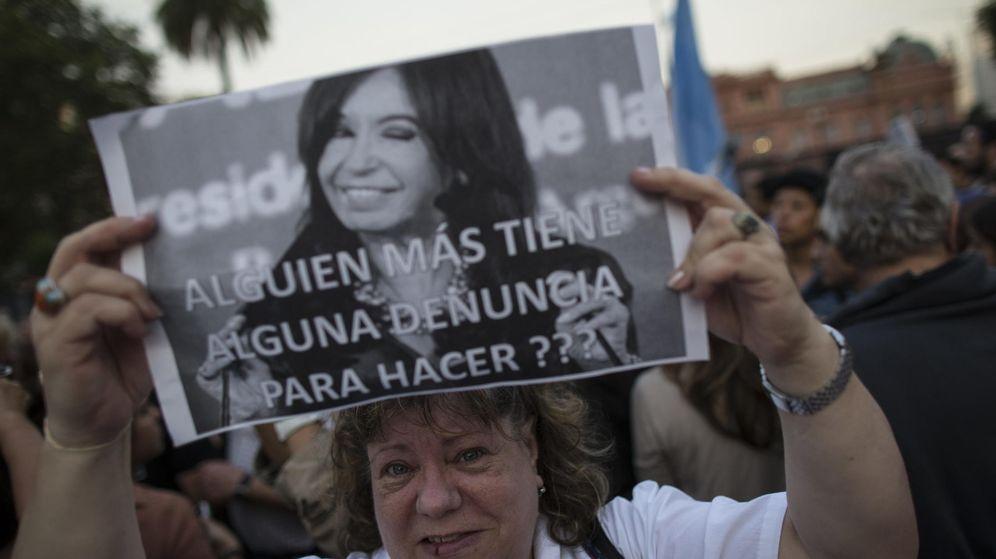 Foto: #YoSoyNisman, protesta tras la muerte del fiscal que investigaba a Cristina Fernández (EFE)