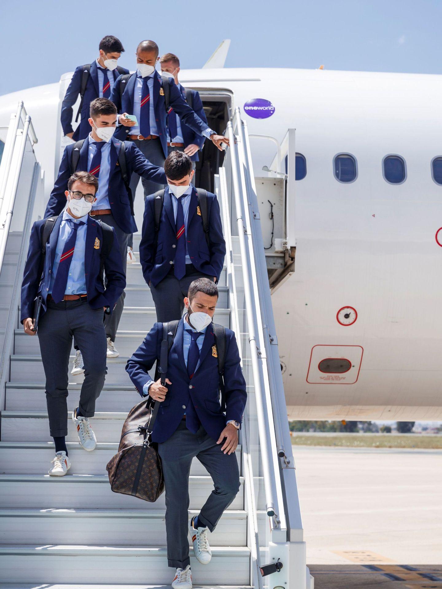 Jugadores de la selección española. (EFE)