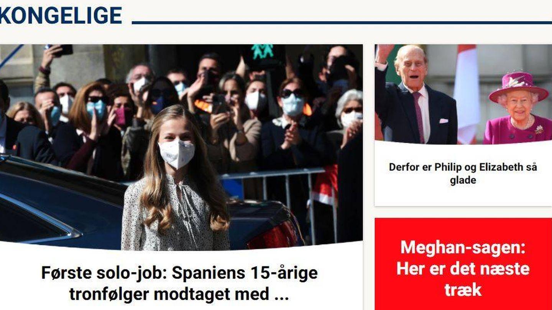Leonor, en la danesa 'Billed Bladet'.