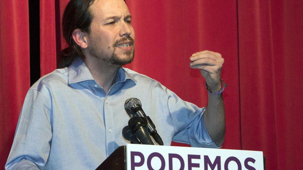 Foto: El líder de Podemos, Pablo Iglesias, el pasado mes de febrero durante un acto público en Nueva York. (Efe)