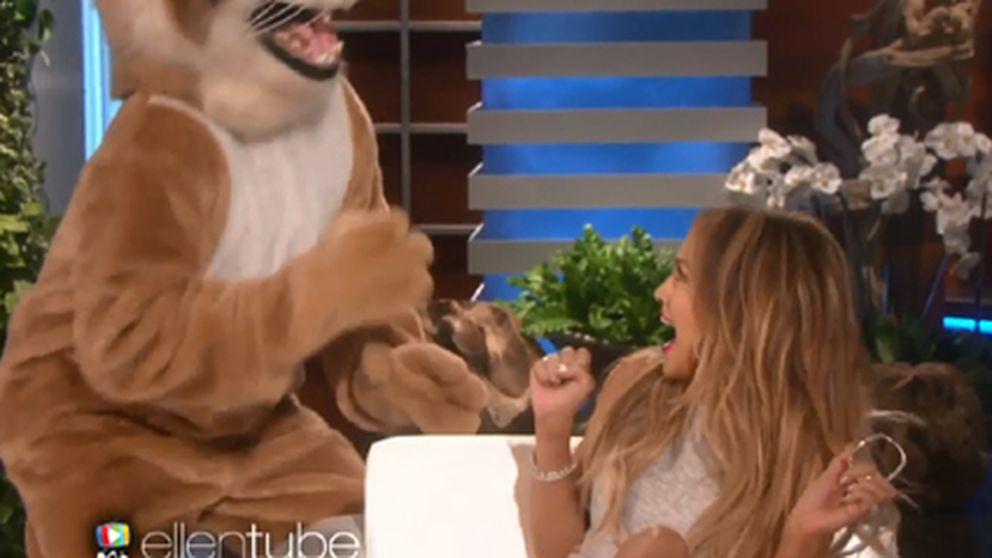 El tremendo susto de Jennifer López con un 'puma'