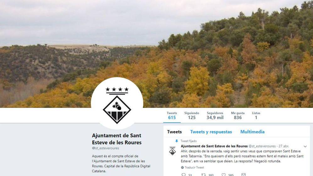 Foto: Página de Twitter del ayuntamiento ficticio de Sant Esteve de les Roures.