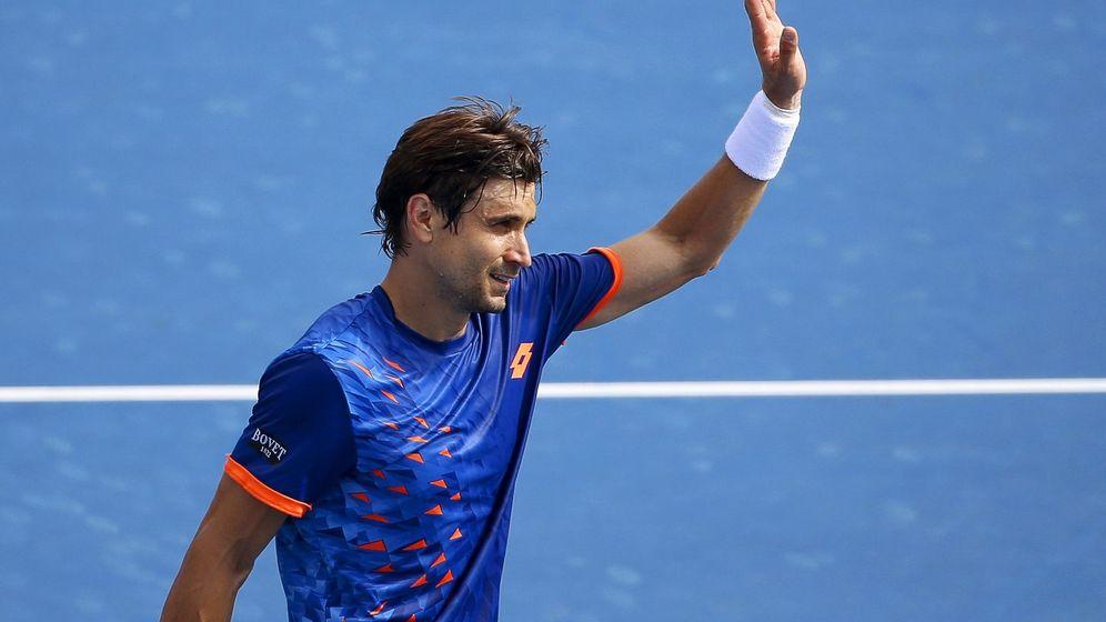 Foto: David Ferrer ya está en cuartos del Open de Australia (Efe).