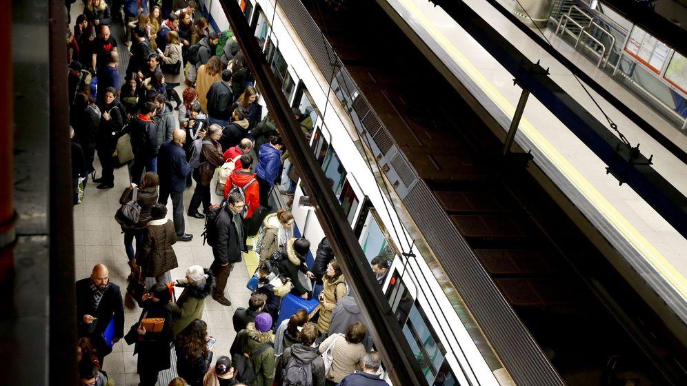 Foto: Huelga de maquinistas del Metro de Madrid en 2017 (EFE)
