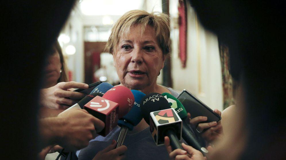 Foto: La diputada del PP Celia Villalobos, quien ha mostrado su apoyo a la candidatura de Santamaría. (EFE)