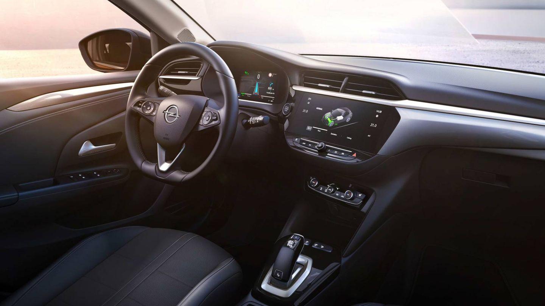 Interior del Opel Corsa-e que aporta pequeños cambios respecto a los Corsa con motor térmico.
