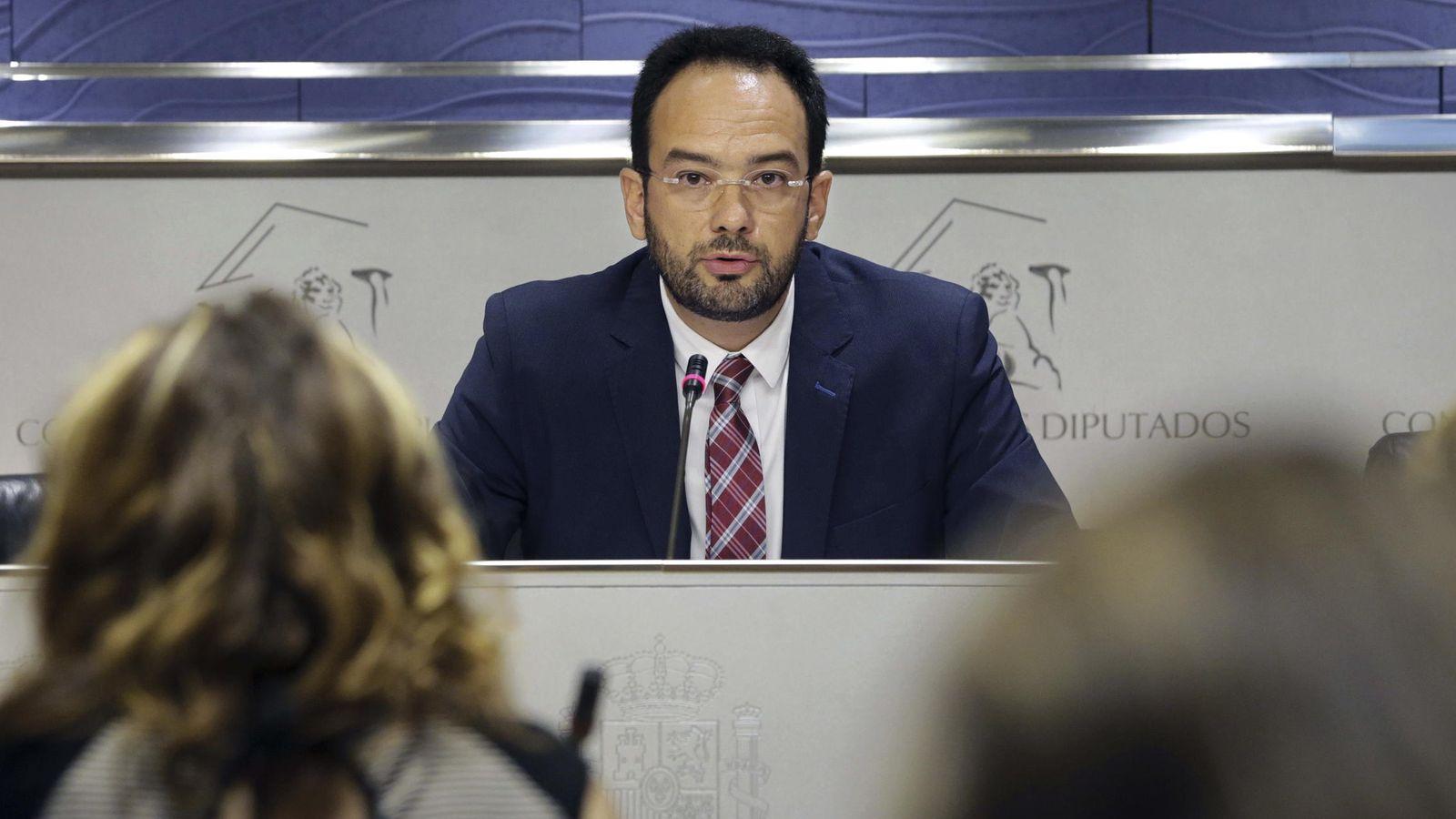Foto: El portavoz del PSOE en el Congreso, Antonio Hernando. (EFE)