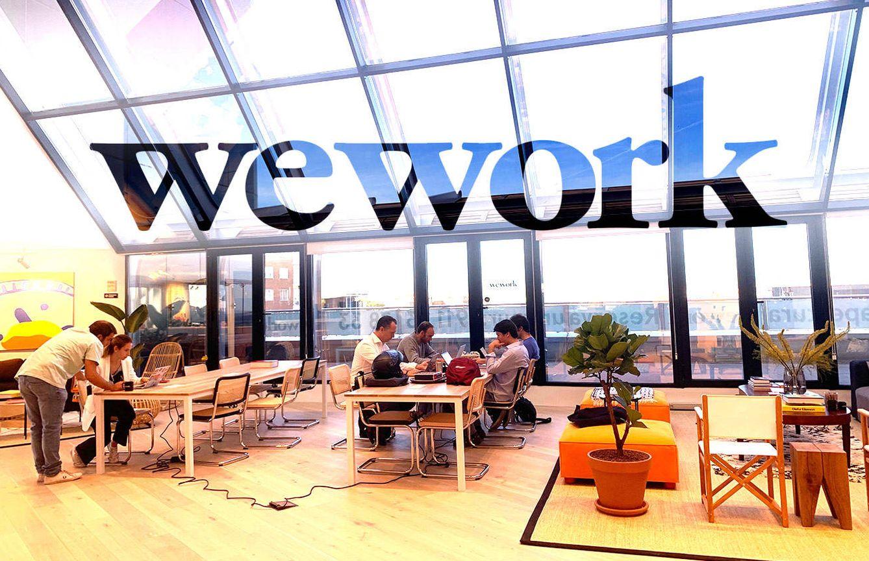 Foto: El nuevo centro de WeWork en Francisco Silvela (Madrid) inaugurado esta semana. (Foto: M. Á. Méndez/Montaje: E. Villarino)