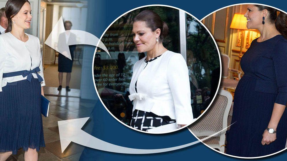 Victoria y Sofía de Suecia, dos cuñadas que comparten la ropa premamá