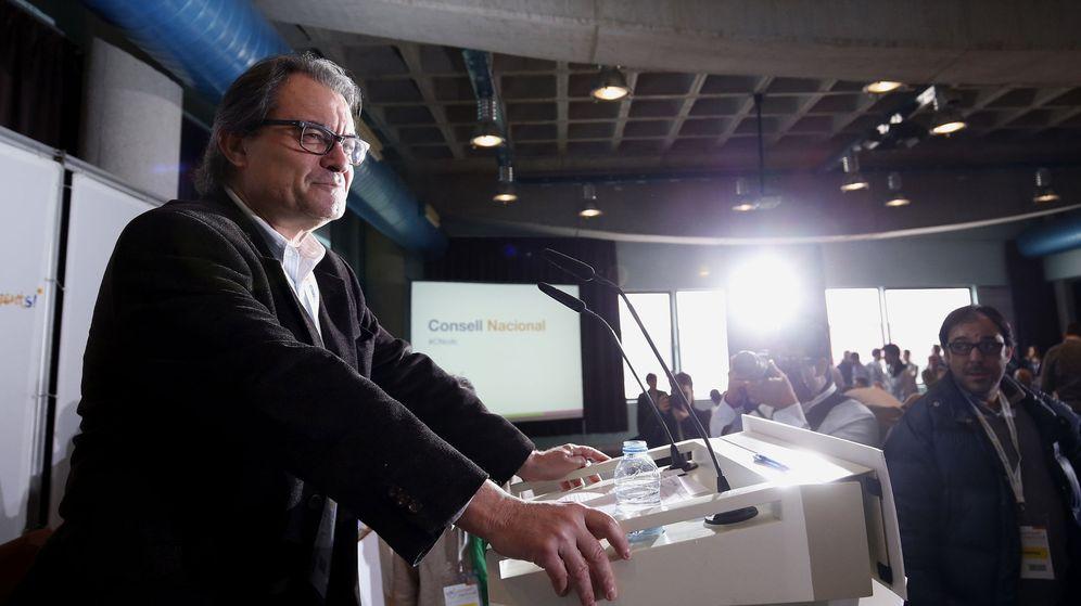 Foto: Artur Mas en el 'consell' nacional de los convergentes, el pasado mes de febrero. (EFE)