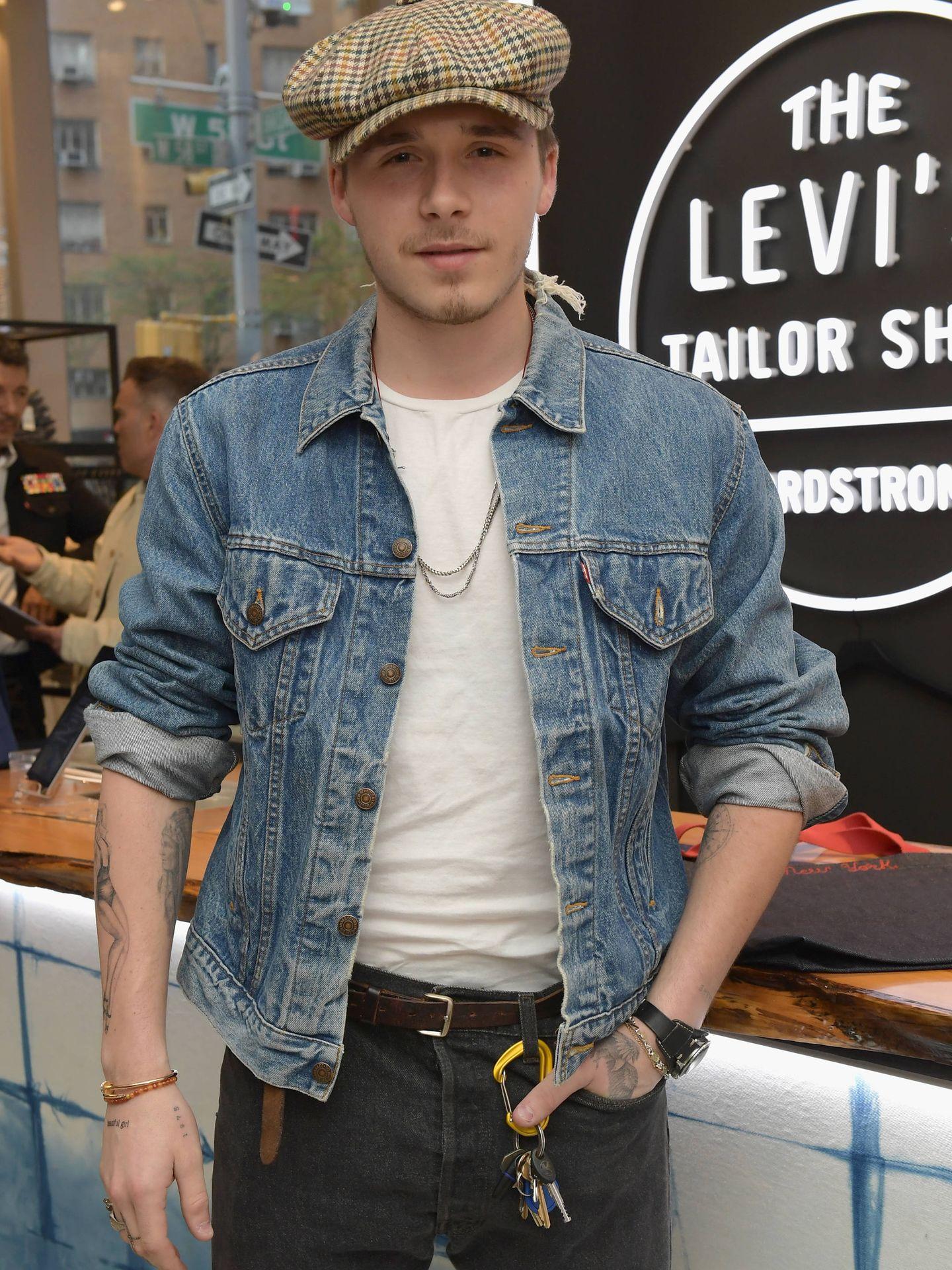 Brooklyn Beckham en la presentación de Levi's Tailor Shop en Nueva York (Getty).