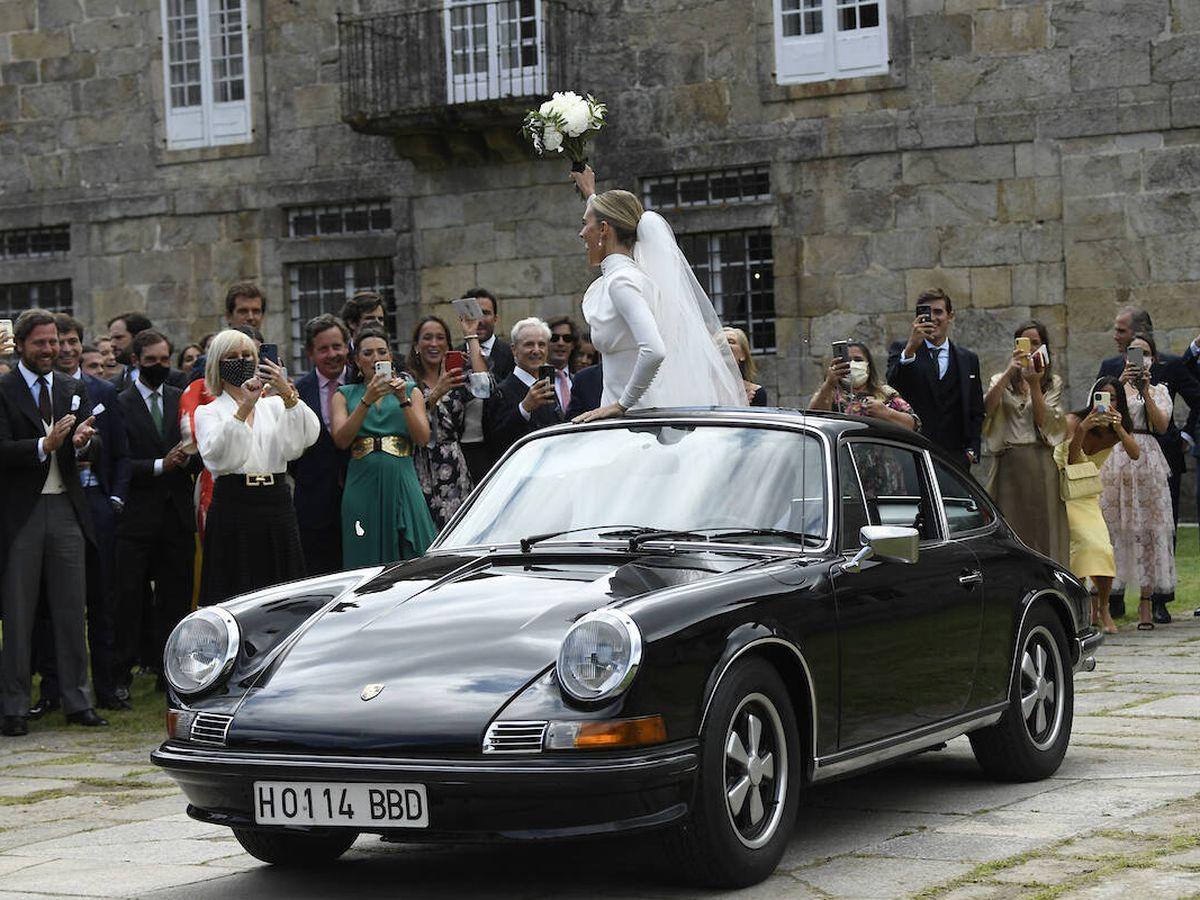 Foto: Lucía Bárcena y Marco Juncadella recién casados. (Limited Pictures)