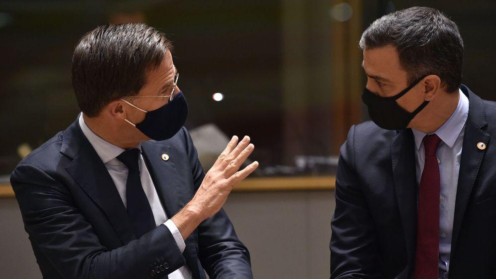 Foto: El primer ministro holandés, Mark Rutte y Pedro Sánchez. (EFE)