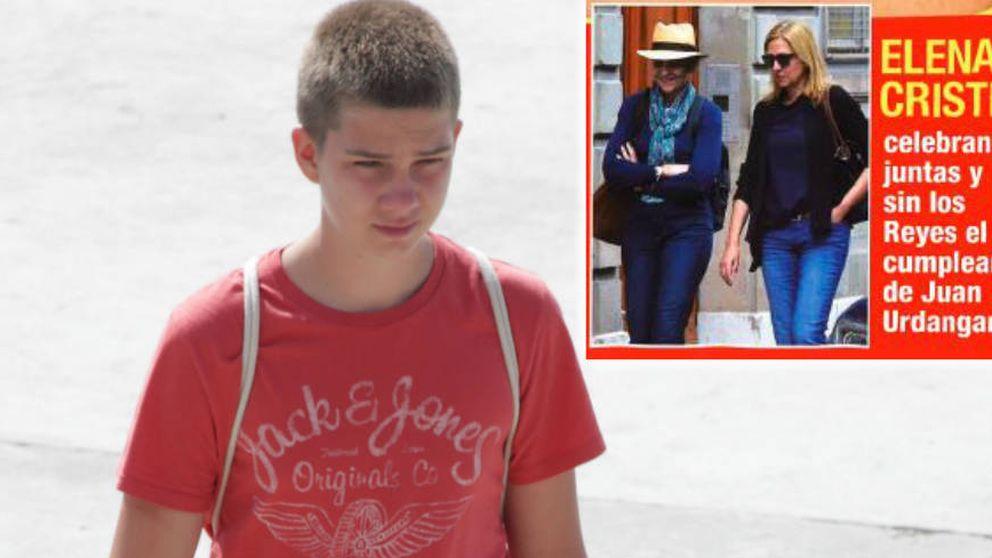 La reina Sofía y la infanta Elena arropan a Juan Urdangarin en su 18 cumpleaños