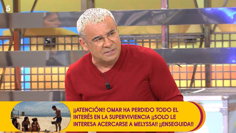 Jorge Javier interrumpe a María Patiño. (Mediaset)