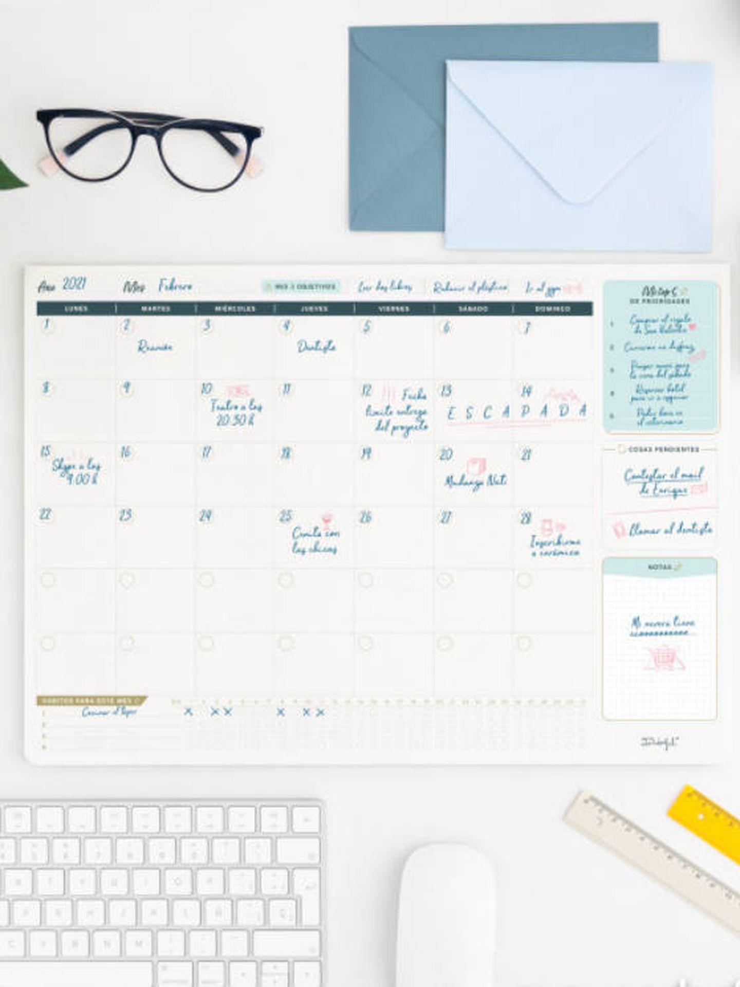 Organizador mensual de Mr. Wonderful. (Cortesía)