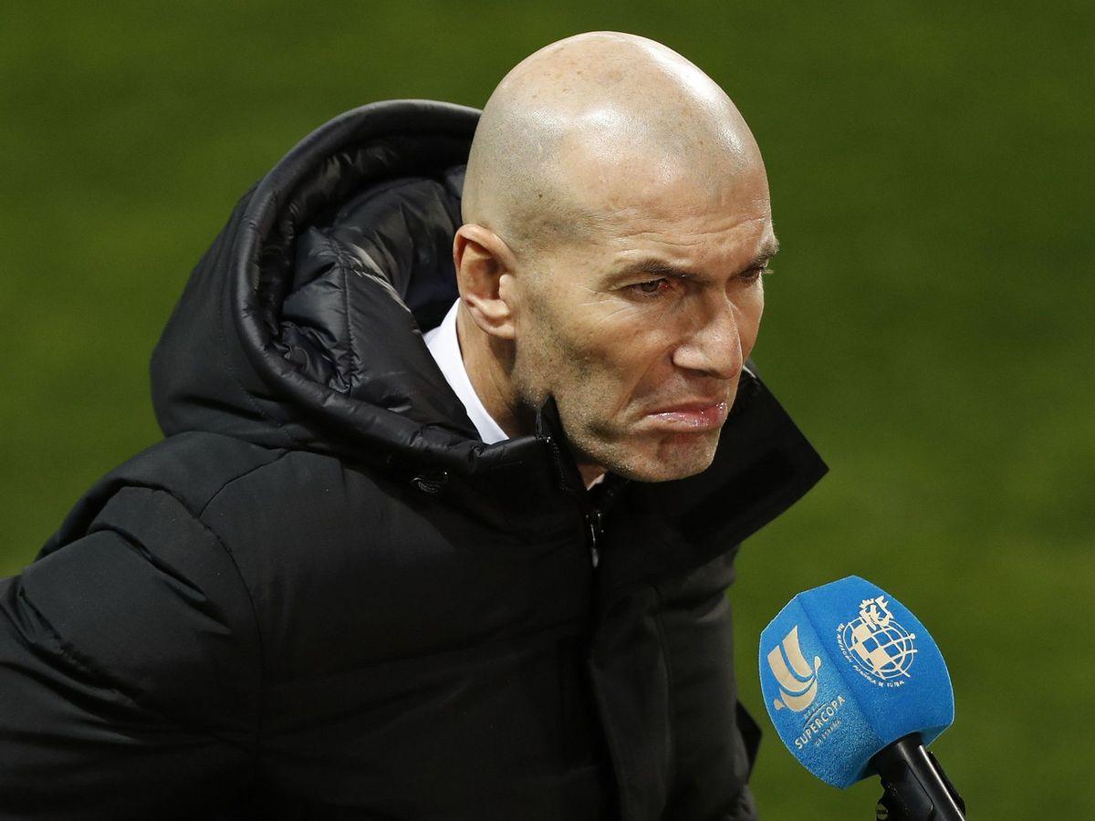 Foto: Zidane tras el partido de la semifinal de la Supercopa de España contra el Athletic. (Efe)