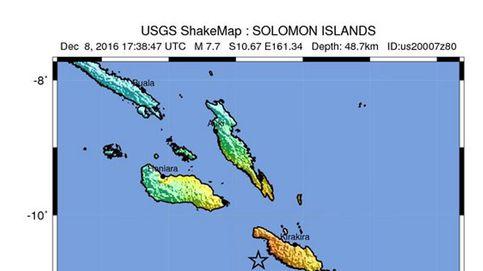 Las Islas Salomón, afectadas por un terremoto de 7,8 grados Richter