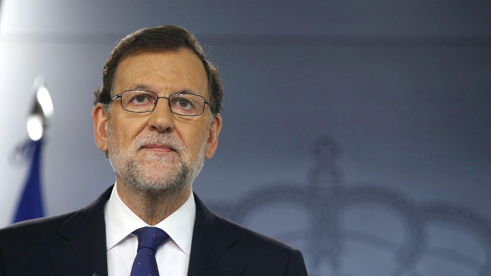 Foto: El presidente del Gobierno en funciones, Mariano Rajoy, comparece en la Moncloa tras el triunfo del Brexit. (EFE)
