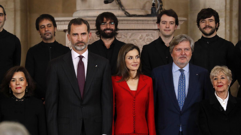 Concha Velasco, junto a los Reyes en los Premios Nacionales de Cultura de 2017. (EFE)