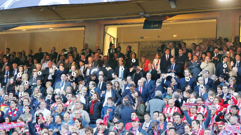 Foto: Algunos de los asistentes al palco durante la semifinal madrileña de Champions. (Fotografías: Baldesca Samper)