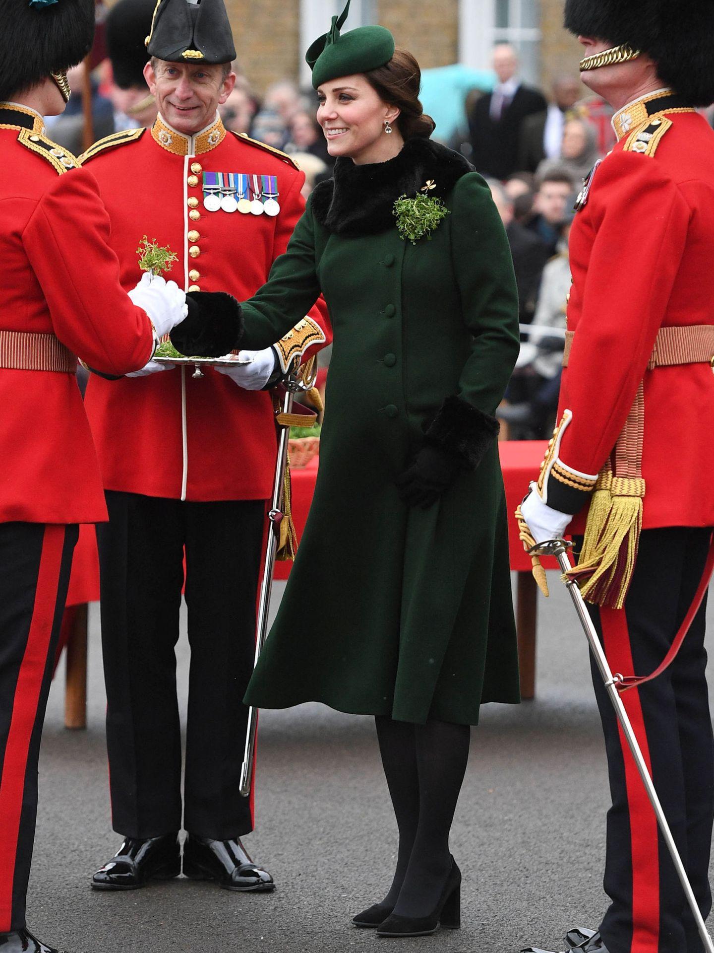 Una embarazada Kate, en 2018. (Reuters)