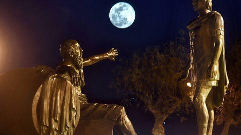 Superluna vista desde la ciudad de Corinto