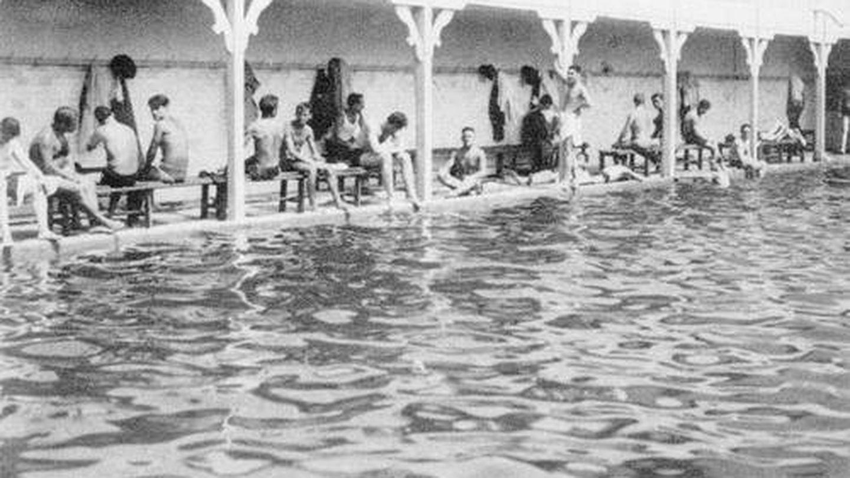 Antigua piscina Niagara, en Príncipe Pío. (Archivos de Madrid)